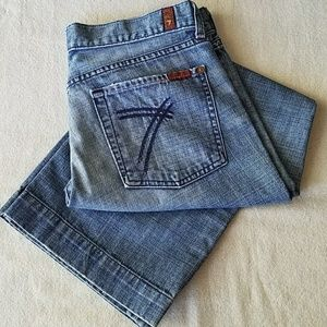 7 For All Mankind Faded Dojo Jeans Size 31